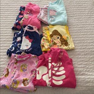 Lot of girls pajamas